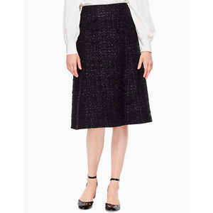 Kate Spade || NEW Paxton Skirt Metallic Thread 4